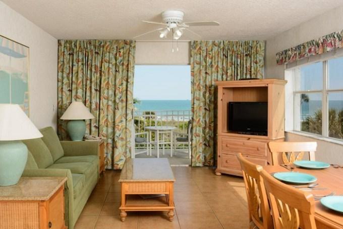 Beachfront suite in Discovery Beach Resort, a VRI resort, near Orlando, FL