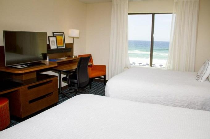 Beachfront suite in Fairfield Inn & Suites by Marriott Fort Walton Beach-West Destin, FL