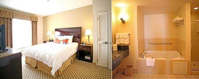 Hot tub suite in Hilton Garden Inn Cincinnati Blue Ash Hotel, OH