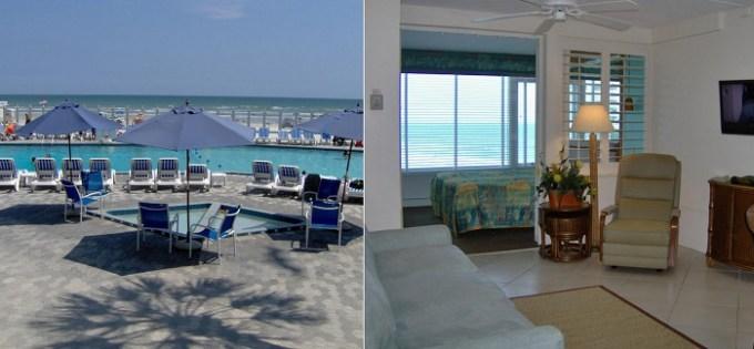 Oceanfront room in Islander Beach Resort - New Smyrna Beach, near Orlando, FL