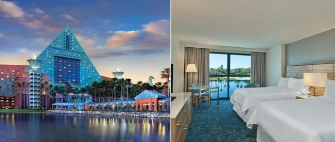 The beachfront resort Walt Disney World Dolphin, Orlando, FL