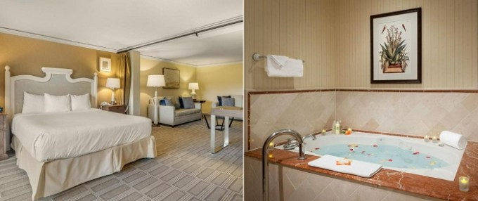 Suite with a hot tub in Miramonte Indian Wells Resort & Spa, near Palm Springs, CA