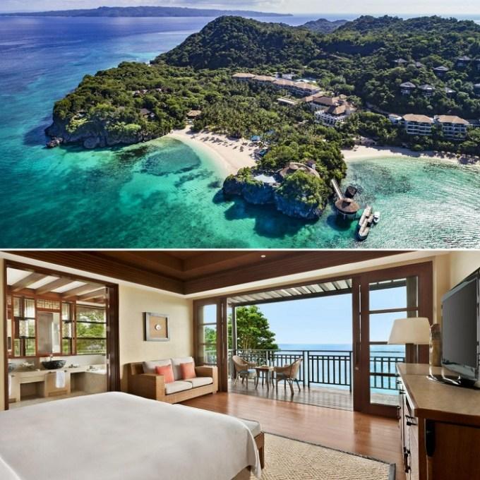 The beachfront resort Shangri-La Boracay, Philippines