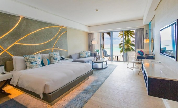 The beachfront suite in resort The Lind Boracay, Philippines