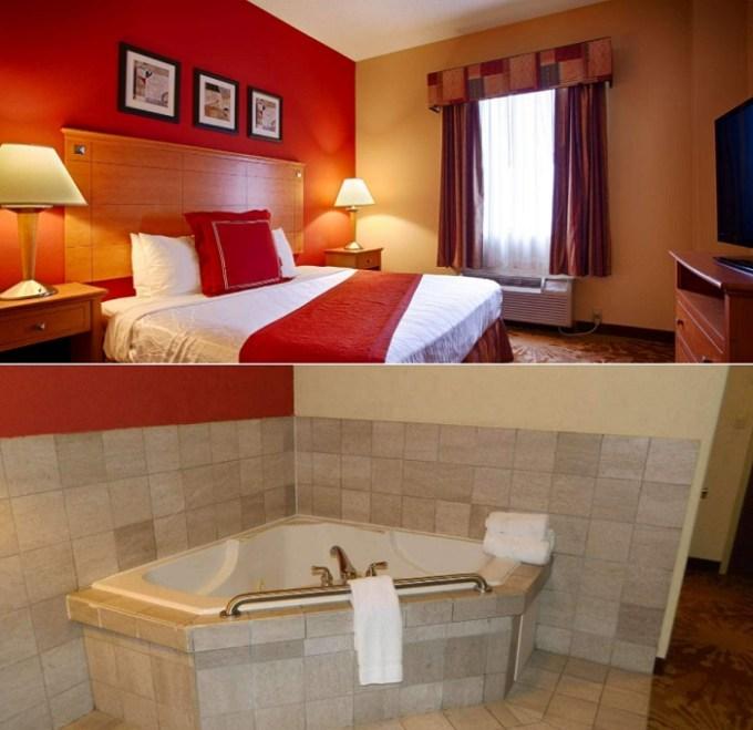 Hot tub suite in Best Western Plus New Cumberland, near Harrisburg, PA