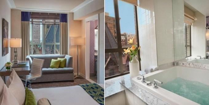 Jacuzzi suite in Kimpton Hotel Palomar Philadelphia, PA