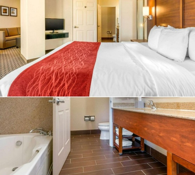 Room with a Jetted tub in Comfort Inn & Suites Galt – Lodi North, near Sacramento, CA