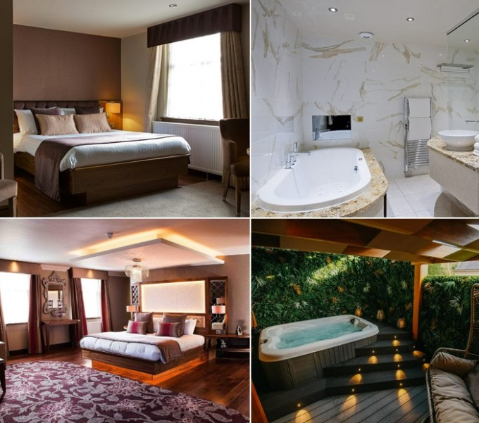 Suites with Jacuzzi tub in Busby Hotel, Glasgow, Scotland