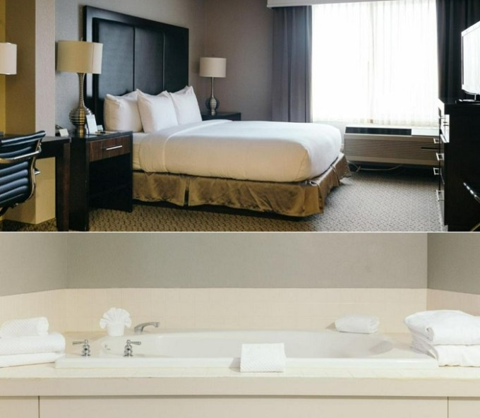 Whirlpool suite in Doubletree Des Moines Airport, IA