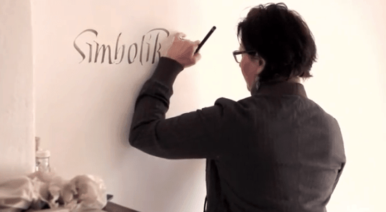 How to do calligraphy on your wall?