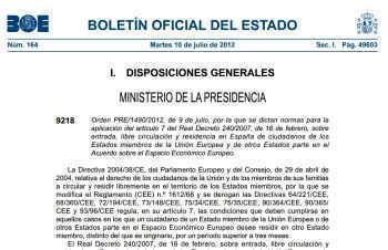 Cum se obtine rezidenta in Spania dupa noua lege