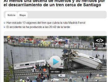 Tragedie in Galitia: Un tren cu 222 de oameni a deraiat la Santiago de Compostela