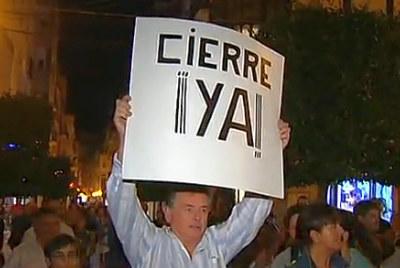 Manifestatii din cauza cutremurelor in Spania