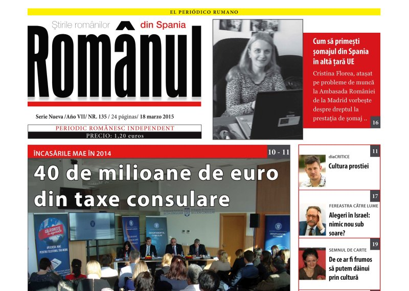 A apărut ziarul Românul, nr. 135