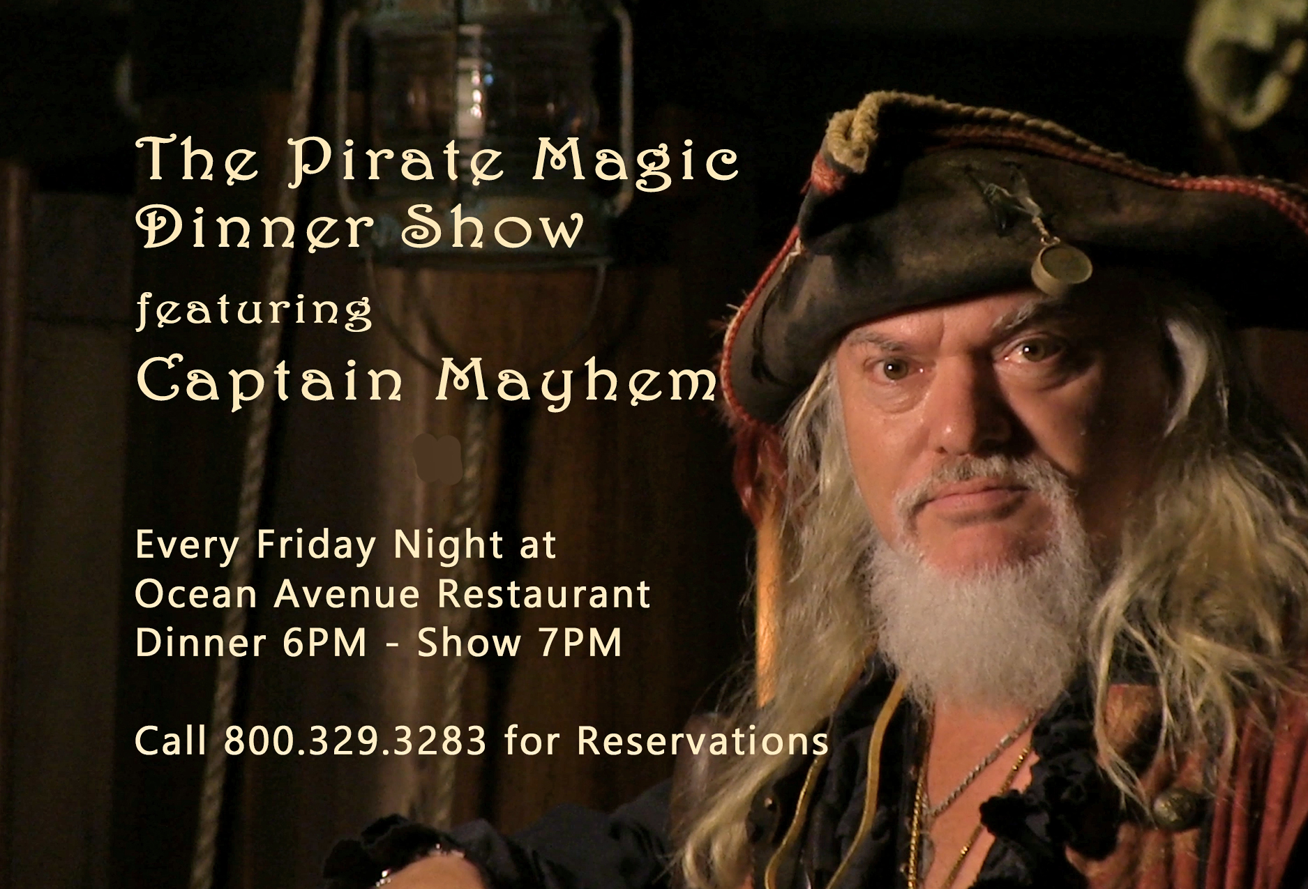 Captain Mayhem in the Pirate Magic Show