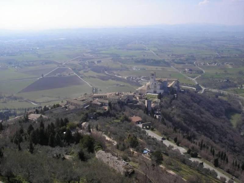 vista de Assis a partir da Fortaleza Rocca Maggiore