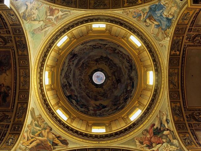A cúpula da Basílica di Sant'Andrea della Valle