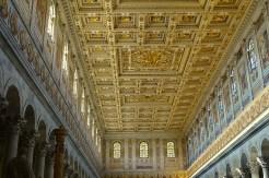 O teto da Basílica de São Paulo Extramuros