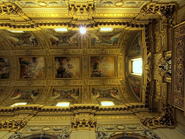 O teto da Basílica di Sant'Andrea della Valle