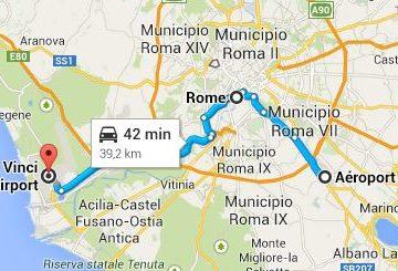 Ciampino airport to Fiumicino airport