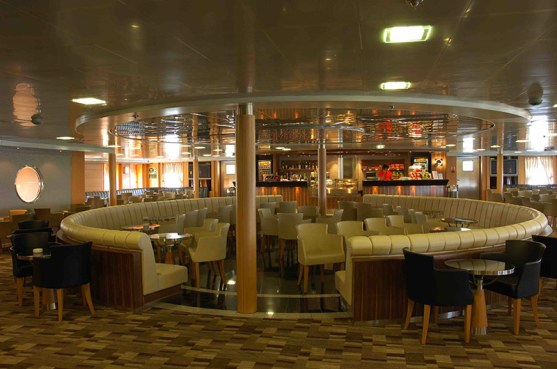 Bar/lounge area on Fast Ferries' Theologos P car-ferry.