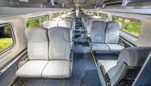 Coach class seats on Amtrak