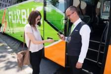 Using the FlixBus App to show bus tickets.