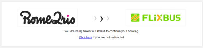 Rome2rio redirect to Flixbus
