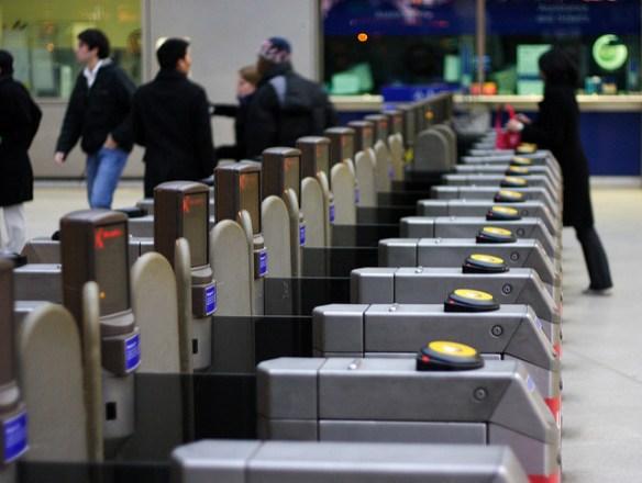 London Underground Oyster Card validator
