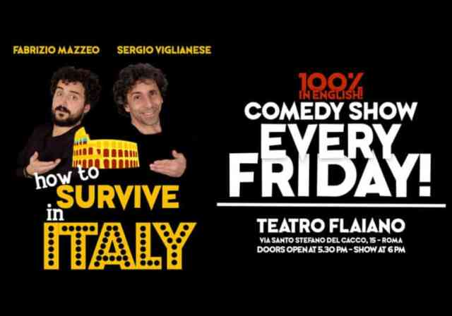 """How to survive in Italy"" Comedy Show in Rome"