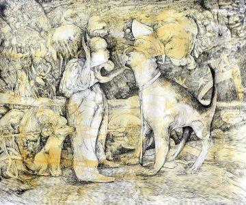 Cabos sueltos 21 - acrílico sobre lienzo - 100 x 120 cm