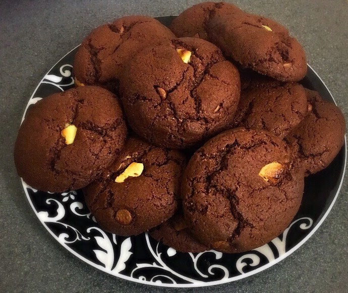 Chocolate Cookies using a Cake Mix