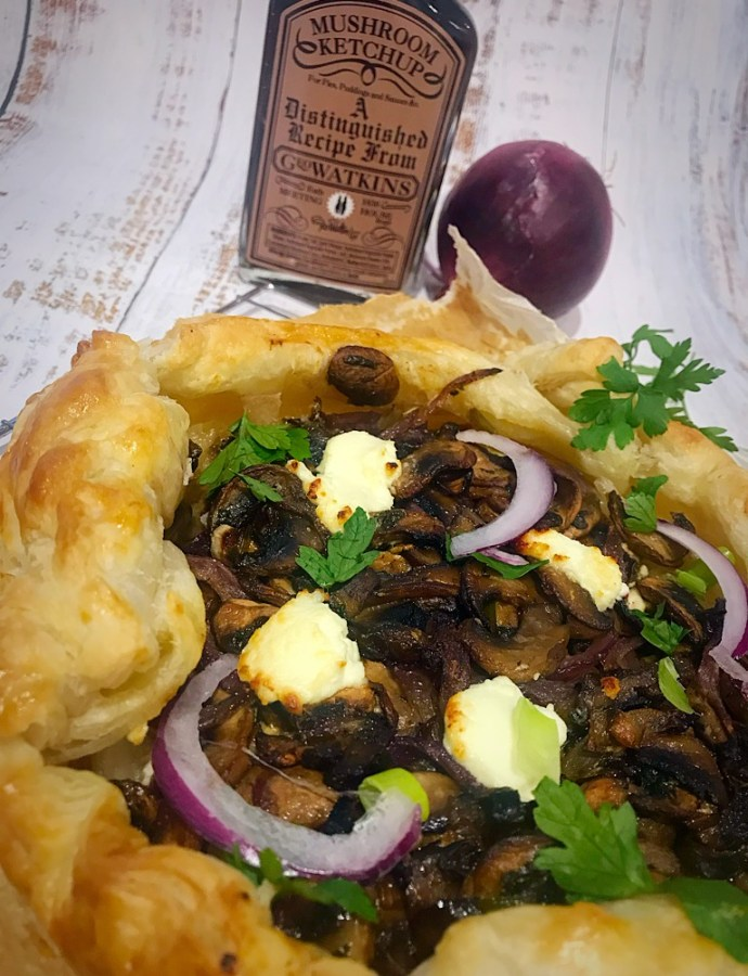Mushroom and Goats Cheese Galette