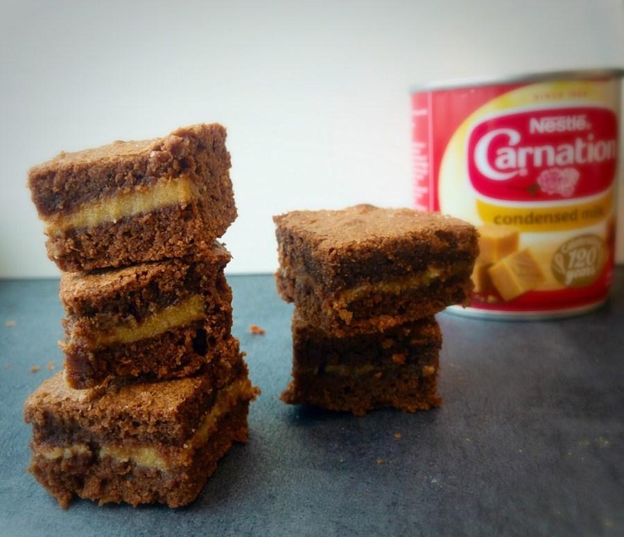 image of slated caramel brownies