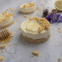 Lemon and Honey Mini Cheesecakes