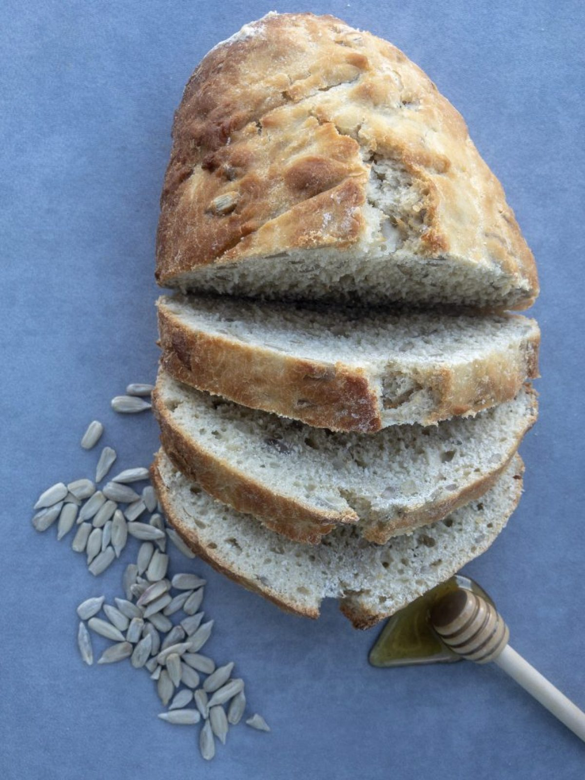 One hour sunflower seed bread with raw honey