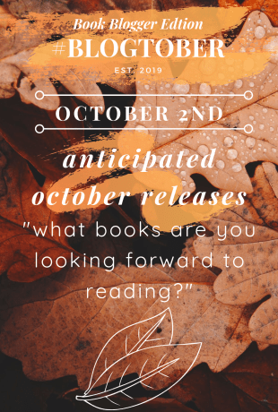 2   #BLOGTOBER   Can't Wait to Read These in October