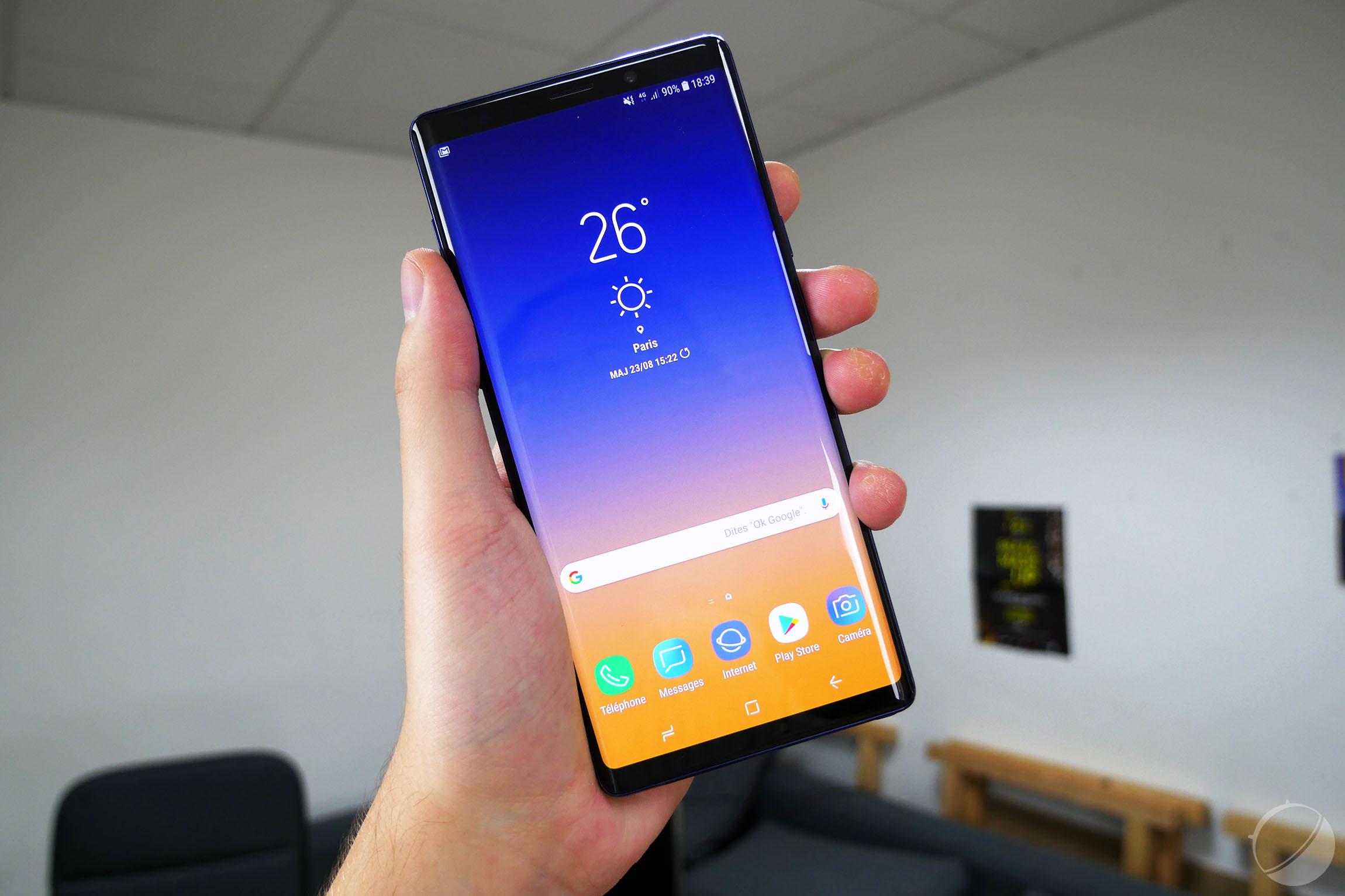 Samsung Galaxy Note 9  Android 10 arrive surveillez votre smartphone