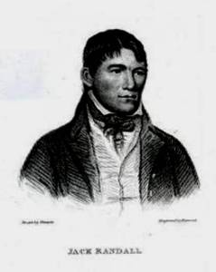 Fig. 2. Jack Randall (1794–1828), by George Sharples. In Boxiana, vol. 2 (1818). R andall was a favourite of Egan's, almost invariably referred to as 'the Nonpareil'.