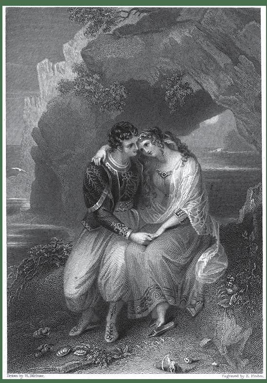 Fig. 1. Henry James Richter, Illustration to Don Juan, in The Byron Gallery.