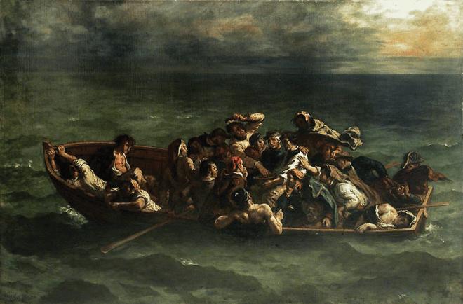 Fig. 2. Eugene Delacroix, The Shipwreck of Don Juan, oil on canvas (1840).