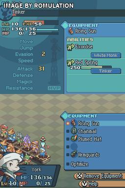 Final Fantasy Tactics A2 Grimoire Of The Rift USA NDS