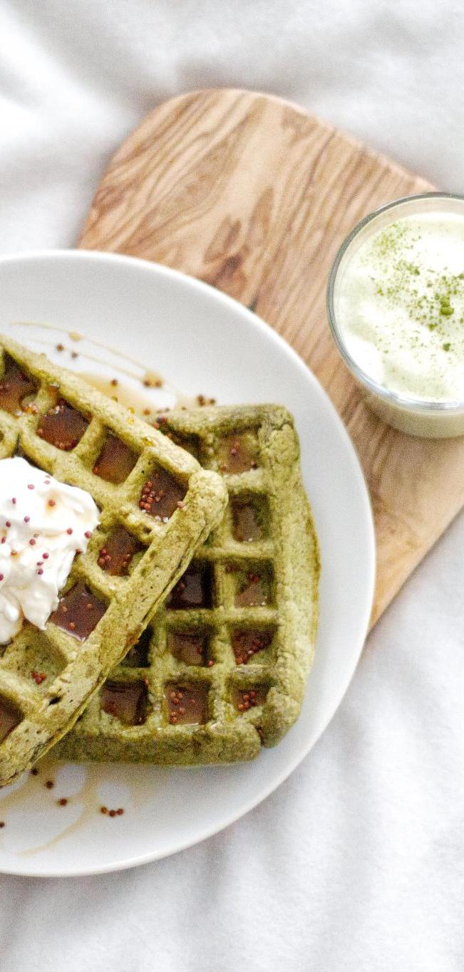 Matcha-Green-Tea-Waffles