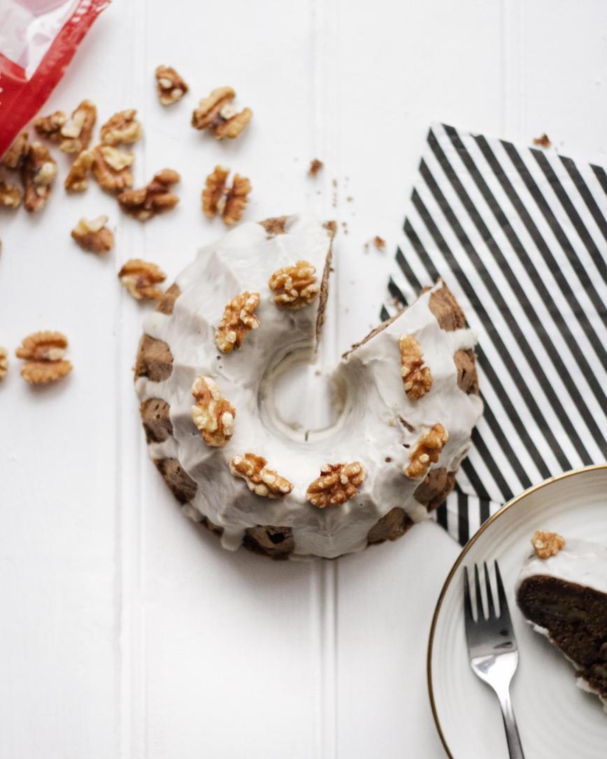 Vegan Coffee Walnut Cake Recipe | Romylondonuk