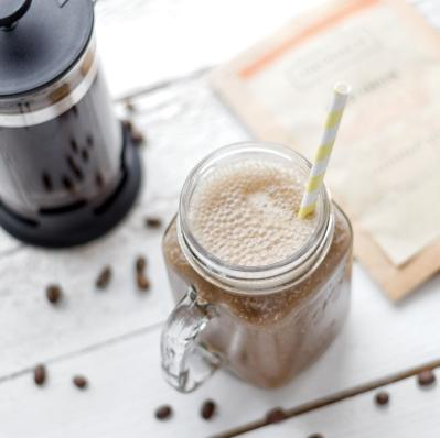 Vegan Protein Shake with coffee | romylondonuk