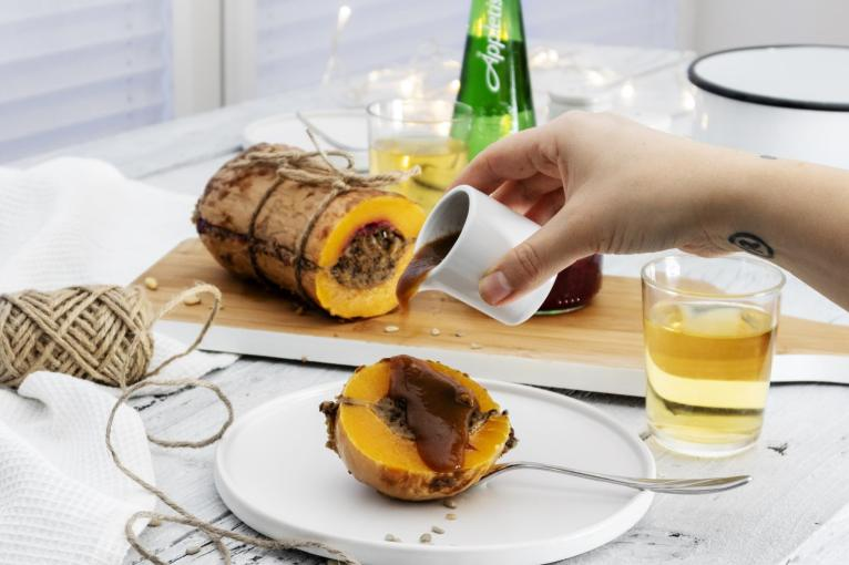 Stuffed Butternut Squash Roast Recipe