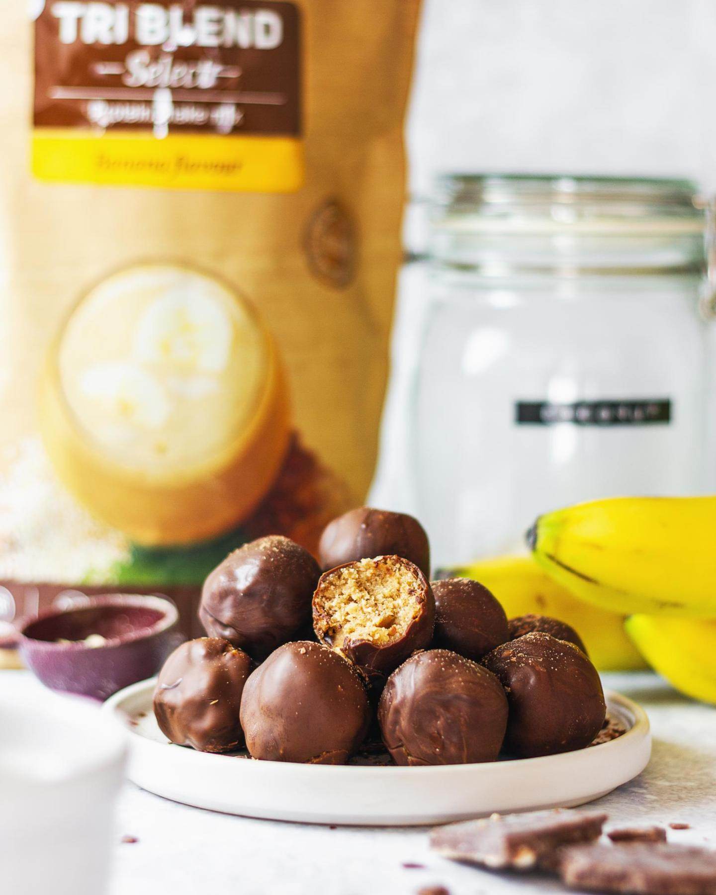Vegan Protein Cookie Dough Truffles