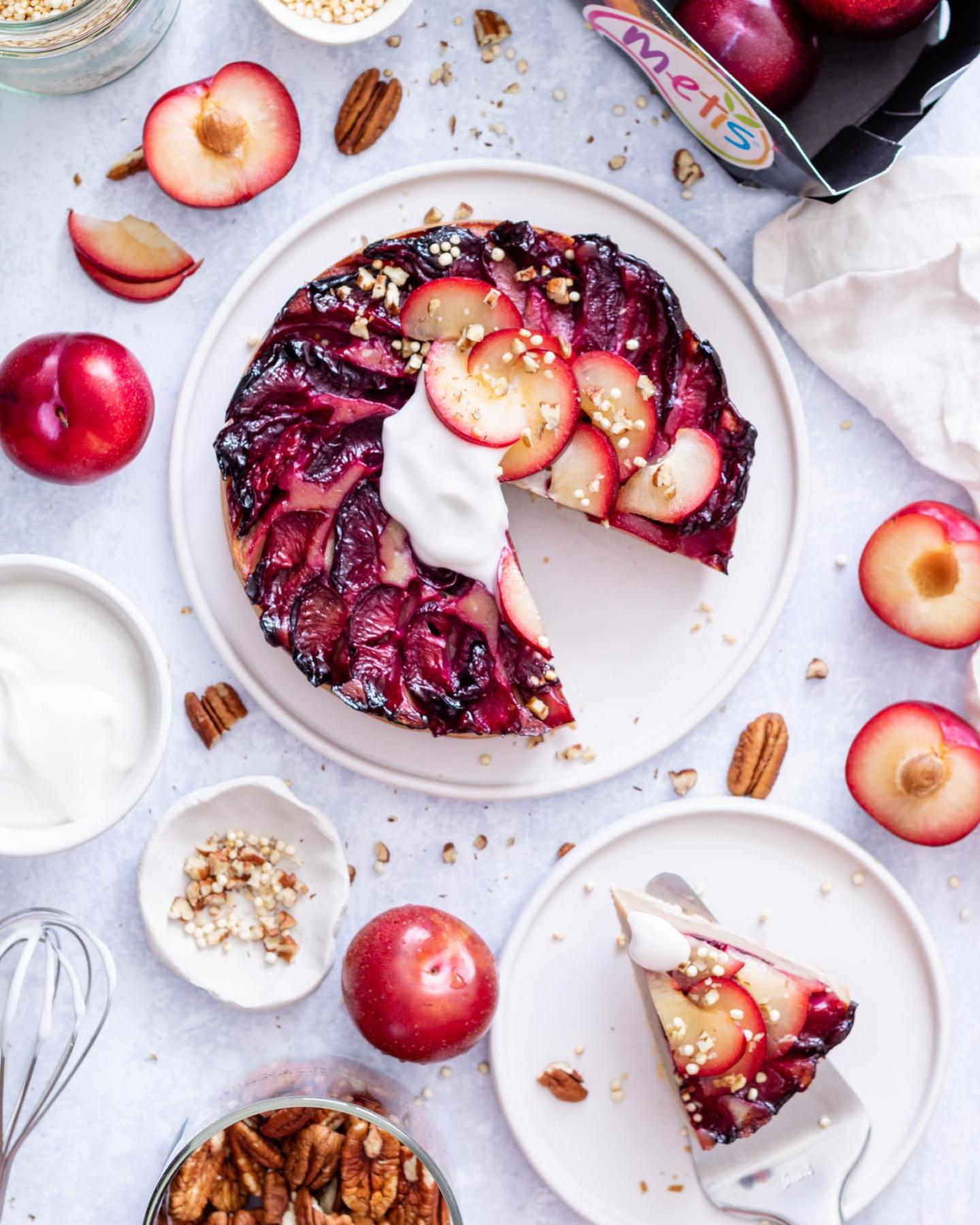Vegan Upside Down Plum Cake