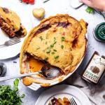 Healthy vegan lentil moussaka