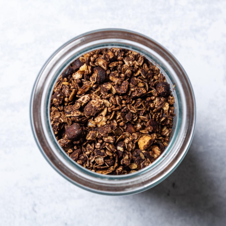 Healthy Vegan Chocolate & Hazelnut Granola